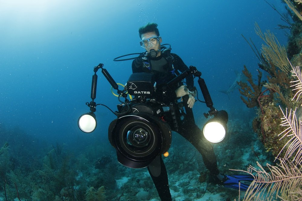 fionn with underwater housing