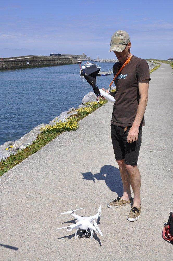 Fionn, Cecienne and drone