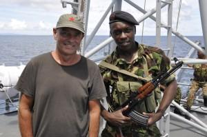 John Boyle aboard Seychelles Coastguard anti-piracy patrol