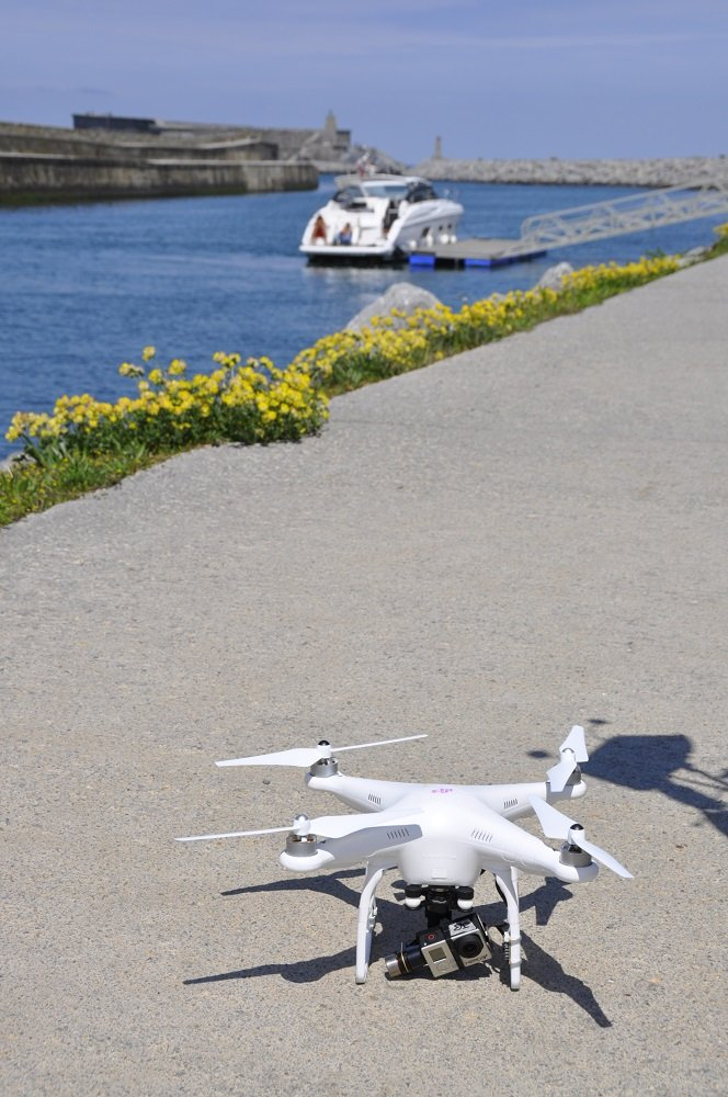 Cecienne and drone