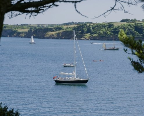 Rustler 37 in the Helford River